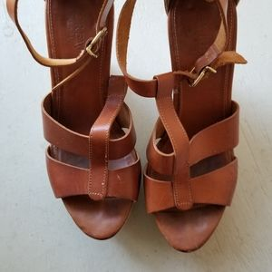 J. Crew Leather Sandals size 8